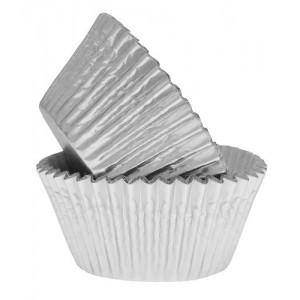 50 Tub Silver Foiled Cupcake Liners Sugarcraft Boutique Ltd