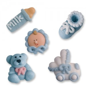 Baby Boy Icing Cake Decorations (20 pieces) - Sugarcraft Boutique Ltd
