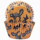 Orange & Black Halloween Cupcake Cases