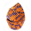 Orange & Purple Halloween Cupcake Liners - 50 pack