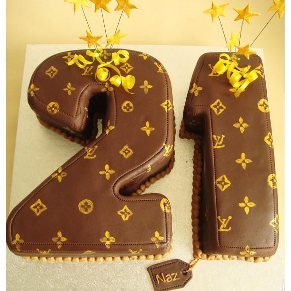 Louis Vuitton Designer Print Vanilla Sponge Flavour Cake