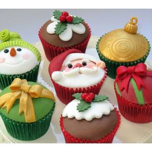 Christmas Themed Cakes Pictures.Christmas Themed Cupcakes 3 Hr Intensive Workshop