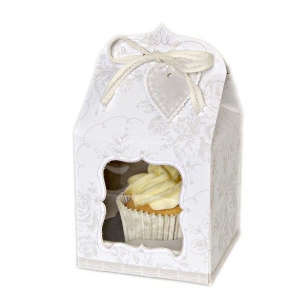 Wedding Cake Gift Boxes Uk : Floral Cupcake Boxes(pack of 4)